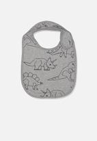 Cotton On - The dinosaur baby bib - grey
