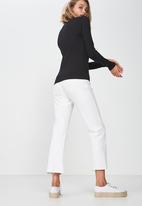 Cotton On - Everyday long sleeve crew neck top  - black