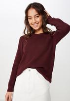 Cotton On - Archy pullover - burgundy
