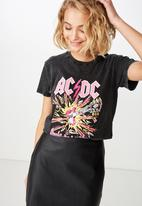 Cotton On - Classic ACDC tee - black