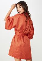 Cotton On - Kimono gown  - orange & black