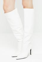 Superbalist - Nix knee high boot - white