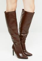 Superbalist - Nix knee high boot - burgundy