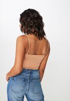 Cotton On - Carissa straight back bodysuit - neutral