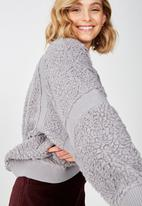 Cotton On - Teddy batwing pullover  - grey