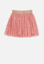 Cotton On - Trixiebelle tulle star skirt - pink