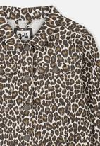 Cotton On - Daisy denim jacket - brown & black