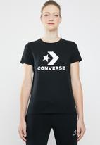 Converse - Star chevron core short sleeve tee - black