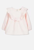 Cotton On - Flutter long sleeve top - pink