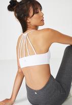 Cotton On - Essential strappy sports crop - white