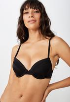 Cotton On - Everyday mesh push up  - black