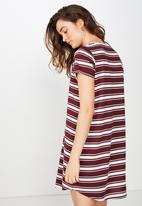 Cotton On - Tina T-shirt dress  - red