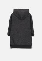 Cotton On - Viola long sleeve hood dress - black
