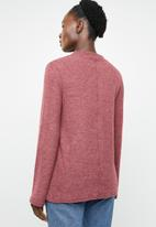 edit - Turtle neck sweater - burgundy