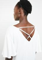 edit - Tee with back detail - white