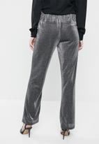 ONLY - Hustler tinsel pants - silver