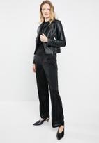 ONLY - Hustler tinsel pants - black