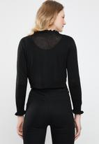 ONLY - Mary long sleeve short cardigan - black