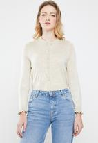 ONLY - Mary long sleeve short cardigan - beige