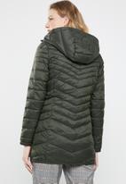 ONLY - Demi puffer coat - green