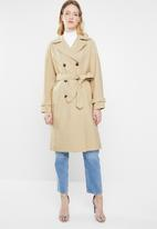 ONLY - Emilia long trench coat - beige