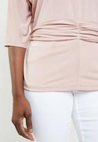 edit - Twist front top - pink