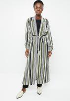 edit - Long line jacket - multi-colour