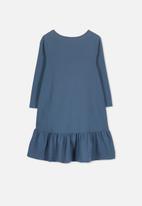 Cotton On - Joss long sleeve dress - blue