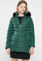 Tokyo Laundry - Lotus puffer jacket - green