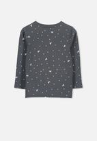 Cotton On - Penelope unicorn spot long sleeve tee - grey