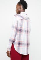 edit - Long sleeve button down shirt - red