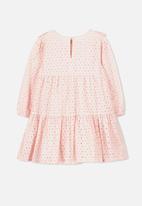 Cotton On - Grace long sleeve dress - pink