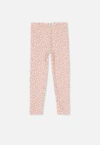 Cotton On - Huggie irregular spot tights - pink & grey