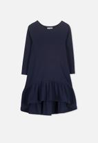 Cotton On - Joss long sleeve dress - navy