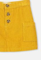 Cotton On - Rose cord skirt - yellow
