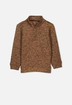 Cotton On - Spencer 1/2 zip crew - brown