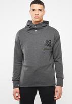 Asics Tiger - Logo sweat full zip hoodie - grey