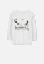Cotton On - Tom long sleeve tee - white