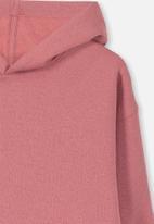 Cotton On - Viola long sleeve hood dress - red