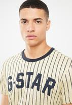 G-Star RAW - Wabash r short sleeve - cream & navy