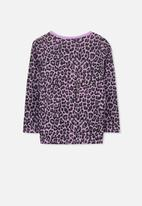 Cotton On - Penelope leopard print long sleeve tee - purple