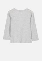 Cotton On - Penelope believe unicorn long sleeve tee - grey