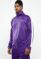 Mennace - Tricot knit zip-through track top - purple