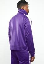 Mennace - Tricot knit zip-through track top - purple