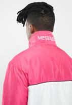 Mennace - Blocked funnel jacket - pink