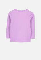 Cotton On - Stevie long sleeve embellished tee - purple & silver