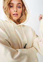 Cotton On - Maxie oversized hoodie  - cream