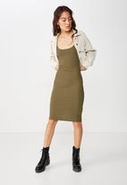 Cotton On - Kimi scooped bodycon dress  - khaki