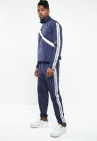 Mennace - Printed tracksuit bottoms - navy