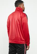 Mennace - Relaxed tricot knit half-zip track top - red
